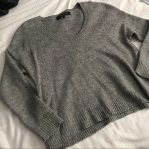 French connection wool side zip sweater